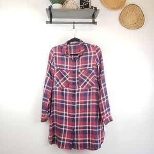 Zara Trafaluc I Long Button Front Flannel